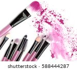 cosmetic crushed make up powder ... | Shutterstock . vector #588444287