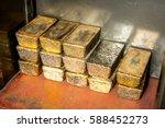a few golden ingots | Shutterstock . vector #588452273