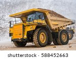 big yellow mining truck | Shutterstock . vector #588452663