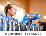 specialist in factory checking... | Shutterstock . vector #588452717