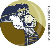 Vector Illustration Of A Steam...