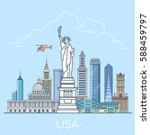 usa united states country... | Shutterstock .eps vector #588459797