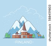 finland country design template....