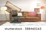 zero gravity furniture hovering ... | Shutterstock . vector #588460163