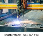 high precision cnc gas or... | Shutterstock . vector #588464543