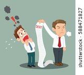 man debtor shocked by creditors ... | Shutterstock .eps vector #588471827