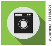 laundry machine vector icon | Shutterstock .eps vector #588483503