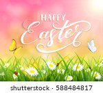 pink nature easter background... | Shutterstock . vector #588484817