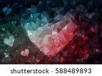 dark red  blue vector heart... | Shutterstock .eps vector #588489893