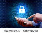 cyber security concept.... | Shutterstock . vector #588490793