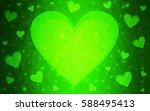 light green vector heart... | Shutterstock .eps vector #588495413