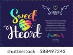 sweet vector template with... | Shutterstock .eps vector #588497243
