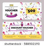 gift voucher coupon discount... | Shutterstock .eps vector #588502193