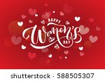 happy woman's day text as... | Shutterstock .eps vector #588505307