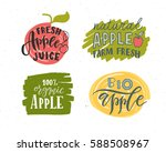 hand sketched apple lettering... | Shutterstock .eps vector #588508967