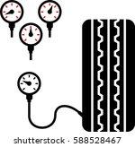 tyre  tire  pressure gauge icon ... | Shutterstock .eps vector #588528467
