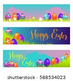 holiday easter banners | Shutterstock .eps vector #588534023