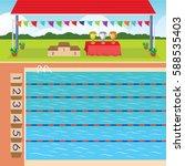 swimming pool | Shutterstock .eps vector #588535403