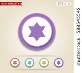 button with star of david icon. ...
