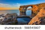 gozo  malta   the beautiful... | Shutterstock . vector #588545807