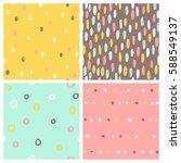 set of 4 seamless patterns.... | Shutterstock .eps vector #588549137