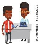 african man checking blood... | Shutterstock .eps vector #588552173