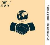 handshake vector illustration.... | Shutterstock .eps vector #588554057