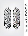 borneo sarawak  iban tribal...   Shutterstock .eps vector #588565913