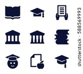 university icons set. set of 9... | Shutterstock .eps vector #588569993