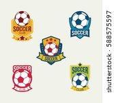 football club logo design... | Shutterstock .eps vector #588575597