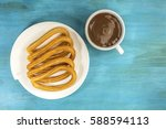 A Plate Of Churros  Traditiona...