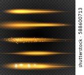 streaking lens flares. warm...