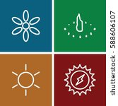 sun icons set. set of 4 sun... | Shutterstock .eps vector #588606107