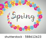 spring banner with colorful... | Shutterstock .eps vector #588612623