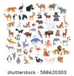 animal full length portraits... | Shutterstock .eps vector #588620303