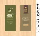 set of natural label and... | Shutterstock .eps vector #588625727