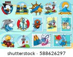 set of of illustrations on the... | Shutterstock .eps vector #588626297