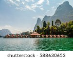 floating resort in khao sok... | Shutterstock . vector #588630653