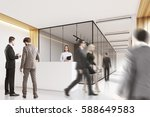 side view of people in an... | Shutterstock . vector #588649583
