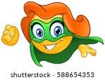 superhero or super heroine...   Shutterstock .eps vector #588654353