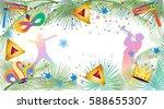 purim festival abstract... | Shutterstock .eps vector #588655307