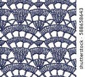 crochet pattern. knitting... | Shutterstock .eps vector #588658643