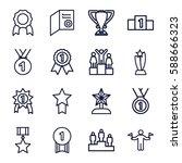 achievement icons set. set of... | Shutterstock .eps vector #588666323