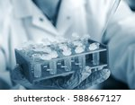 laboratory assistant in the of... | Shutterstock . vector #588667127