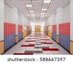 lockers in the high school... | Shutterstock . vector #588667397