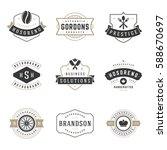 vintage logos design templates... | Shutterstock .eps vector #588670697