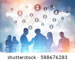 business team members are...   Shutterstock . vector #588676283