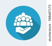 public services for citizens  ... | Shutterstock .eps vector #588687173