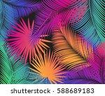 carnival festival poster vector ... | Shutterstock .eps vector #588689183