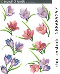 light lilac spring blossoming...   Shutterstock .eps vector #588689297